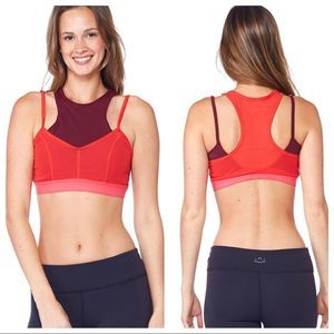 Free People Red Combo Movement Fly Girl Bra Sz XS